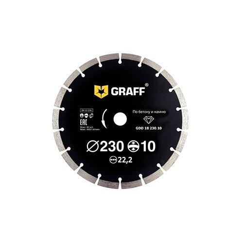 Фото - Диск алмазный отрезной 230x2.6x22.2 GRAFF GDD 18 230.10 1 шт. диск отрезной 125x1 6x22 23 graff gadm 125 16 1 шт