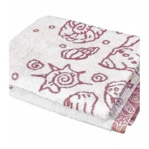 ДеНАСТИЯ Полотенце Ракушки банное 70х130 см молочный/розовый loya pink розовый полотенце банное