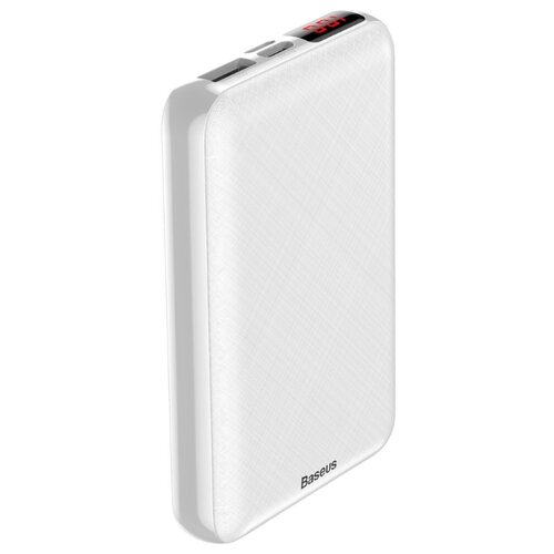 Аккумулятор Baseus Mini S PD edition LED display power bank, 10000 mAh, белый чехол аккумулятор baseus continuous backpack power bank для apple iphone x белый
