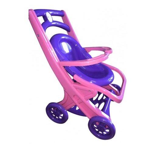 Купить Прогулочная коляска Doloni С шезлонгом (0122) розовый/фиолетовый, Коляски для кукол