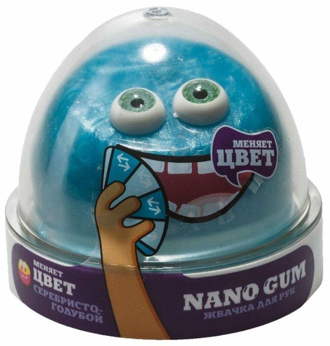 Жвачка для рук NanoGum серебристо-голубая 50 гр (NG2SG50)