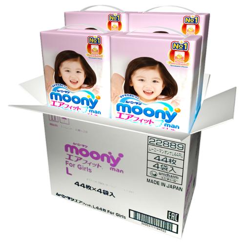 Moony трусики Man для девочек L (9-14 кг) 176 шт.Подгузники<br>