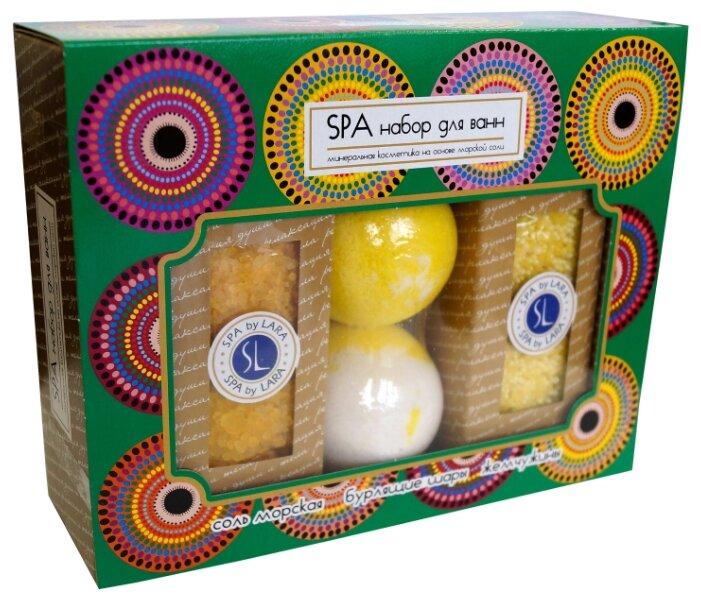 SPA by LARA Набор Соль для ванн + Жемчужины для ванн + 2 Бурлящих шара, Ромашка
