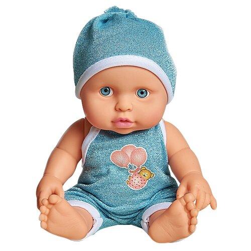 Купить Пупс Cuddly baby в голубом комбинезоне, 23.5 см, XM634/3, Куклы и пупсы