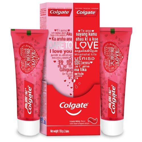 Купить Зубная паста Colgate Dare to Love с сердечками, 2 х 130 г