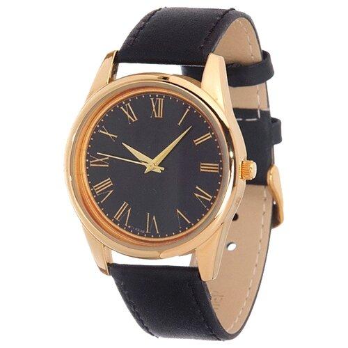 Наручные часы Mitya Veselkov Куранты золотые на черном (Gold-34) часы наручные mitya veselkov обратный циферблат gold