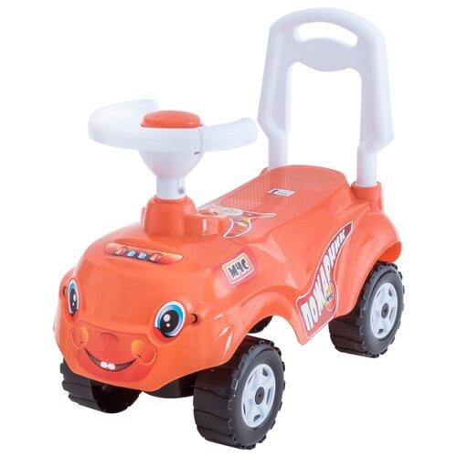 Купить Каталка-толокар Orion Toys Микрокар (157) со звуковыми эффектами оранжевый, Каталки и качалки