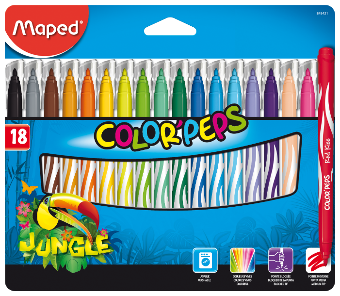"""Maped Фломастеры """"Jungle"""" 18 шт. (845421)"""