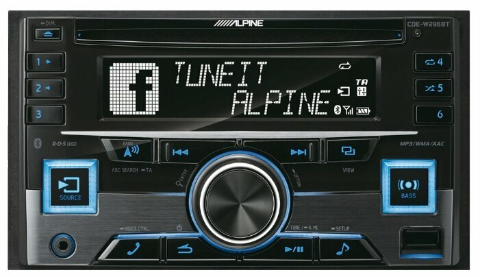 Автомагнитола Alpine CDE-W296BT, черный фото 1