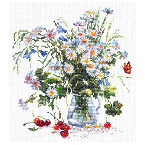 Купить Чудесная Игла Набор для вышивания Ромашки и колокольчики 29 x 32 см (40-40), Наборы для вышивания