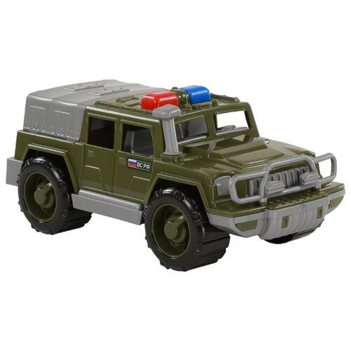Купить Внедорожник Полесье патрульный Защитник №1 РФ (69320) 31 см зеленый, Машинки и техника