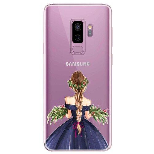Чехол UVOO U004348SAM для Samsung Galaxy S9+ девушка с цветами