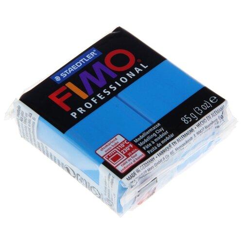 Купить Полимерная глина FIMO Professional запекаемая 85 г чисто-синий (8004-300), Глина