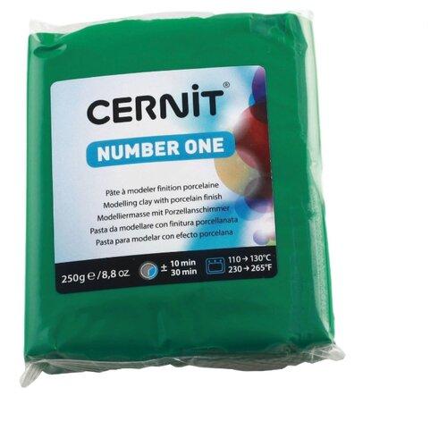 Купить Полимерная глина Cernit Number one зеленая (600), 250 г, Глина
