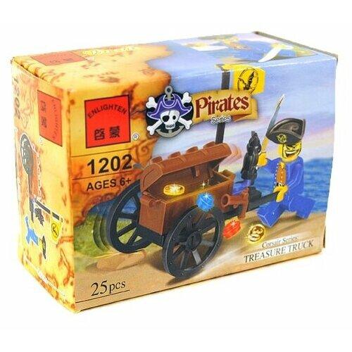 Конструктор Qman Pirates 1202 Пират с сокровищами playmobile пират с сокровищами разноцветный