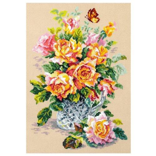 Купить Чудесная Игла Набор для вышивания Чайные розы 24 x 34 см (100-021), Наборы для вышивания