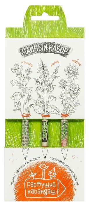 Эйфорд Набор чернографитных карандашей Чайный набор 3 шт (RK-01-03-09)