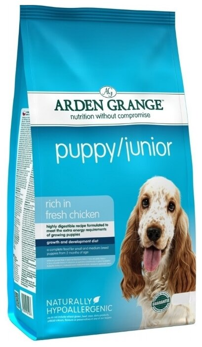Корм для собак Arden Grange Puppy/Junior курица для щенков и молодых собак