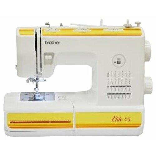Фото - Швейная машина Brother Elite 45, бело-желтый швейная машина brother artcity 170s бело синий