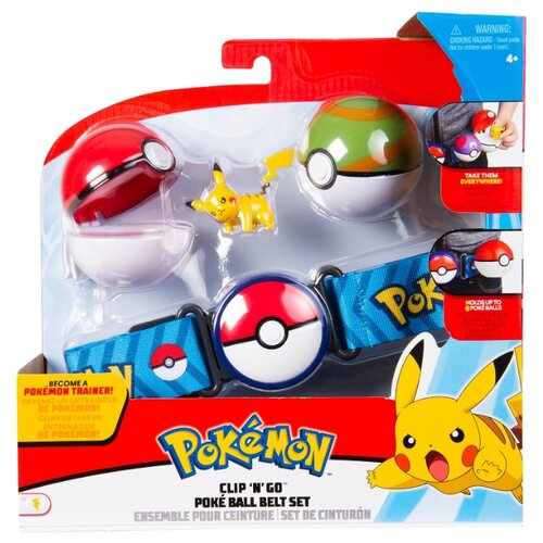 Купить Игровой набор РОСМЭН Pokemon Пояс для Поке-тренов (голубой) 36705, Игровые наборы и фигурки