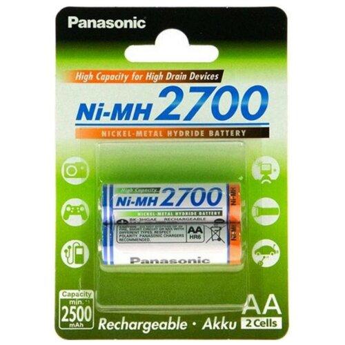 Аккумулятор Ni-Mh 2700 мА·ч Panasonic Rechargeable Accu AA 2 шт блистер аккумулятор ni mh 2700 ма·ч эра c0038458 2 шт блистер