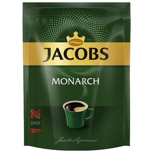 цена Кофе растворимый Jacobs Monarch, пакет, 240 г онлайн в 2017 году