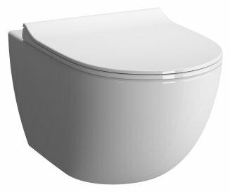 Чаша унитаза подвесная VitrA Sento 7747B003-6115 с горизонтальным выпуском