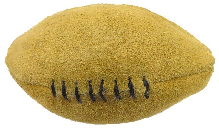 Мячик для собак Ankur регби из буйволиной кожи 10х6 см
