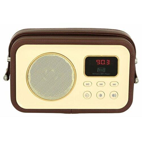 Радиоприемник Max MR-320 коричневый/желтыйРадиоприемники<br>