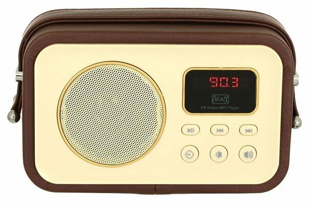 Радиоприемник Max MR-320 коричневый/желтый
