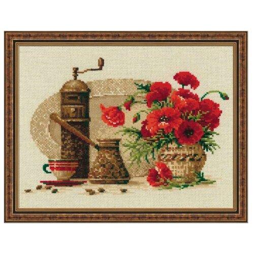 Купить Риолис Набор для вышивания крестом Кофе 30 х 24 см (1121), Наборы для вышивания