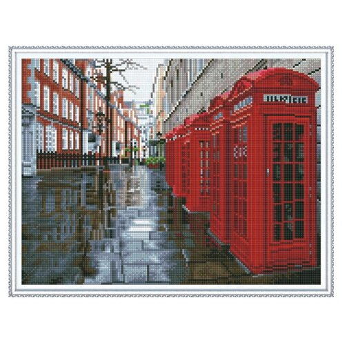 Купить Molly Набор алмазной вышивки Улица Лондона (KM0132) 50х40 см, Алмазная вышивка