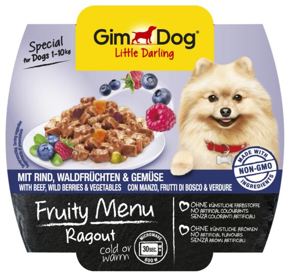 Корм для собак GimDog Little Darling Fruity Menu рагу из говядины, лесных ягод и овощей