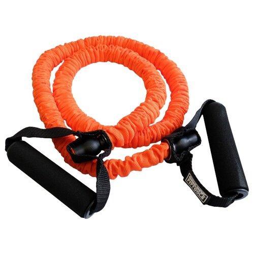 Эспандер универсальный Original FitTools в защитном кожухе Heavy (FT-TUBE-81212) 120 х 12 см оранжевый/черный