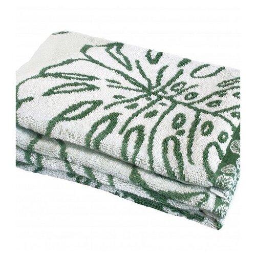 Фото - DeNASTIA Полотенце Тропики для лица 50х90 см молочный/зеленый полотенце полосы цвет зеленый 50х90 см