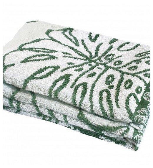 Полотенце банное deнастия Тропики Хлопок, 70x130 см, зеленый
