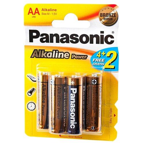 Купить Батарейка Panasonic Alkaline Power AA/LR6 6 шт блистер