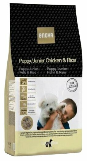Корм для собак ENOVA Puppy/Junior Chicken & Rice сухой корм для щенков (14 кг)