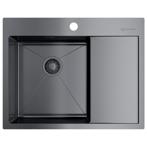 цена на Врезная кухонная мойка 65 см OMOIKIRI Akisame 65-GM-L 4973097 вороненая сталь