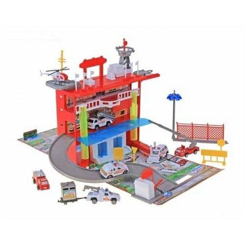 Купить Joy Toy Станция скорой помощи 3042 красный/синий/желтый, Детские парковки и гаражи