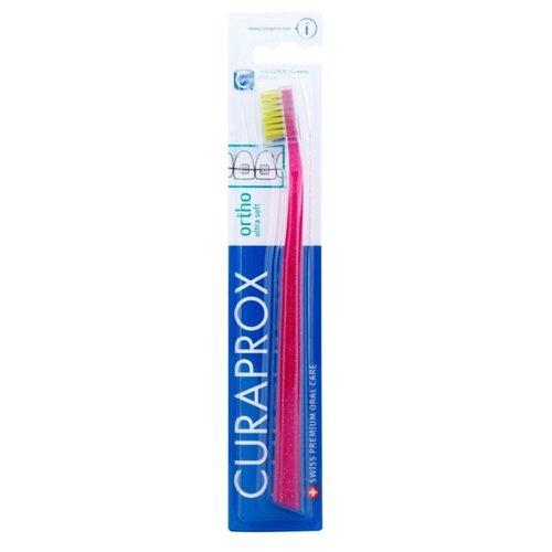 Зубная щетка Curaprox CS ortho ultra soft, малиновый