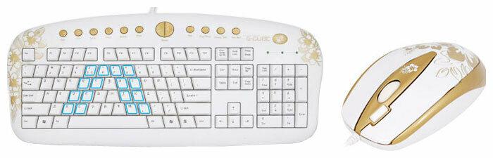 Клавиатура и мышь G-CUBE GKSA-2803SR USB