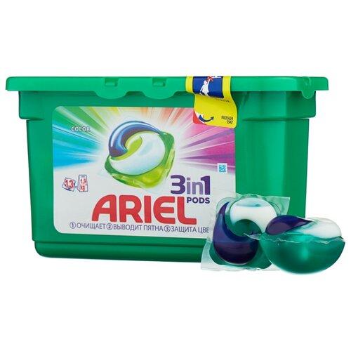 Капсулы Ariel Color, пластиковый контейнер, 13 шт ariel