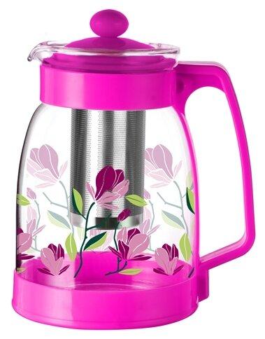 МФК Заварочный чайник стеклянный 1,8 л ПРОВАНС. VIOLET