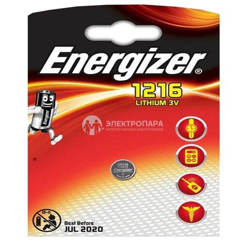 Батарейка Energizer CR1216 1 шт блистер батарейка energizer cr2032 2 шт блистер