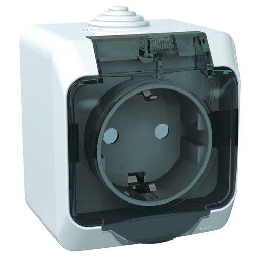 Розетка Schneider Electric ЭТЮД PA16-044B,16А, с защитной шторкой, с заземлением, белый розетка xiaomi mi smart plug wifi 16а с защитной шторкой с заземлением белый