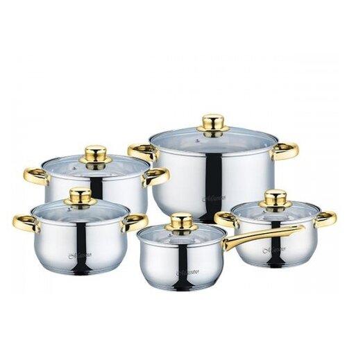 Набор посуды Maestro MR 2006 10 пр. сталь с медью