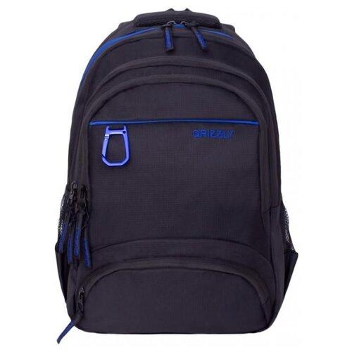 Рюкзак Grizzly RU-806-1 17.5 черный/синий рюкзак городской grizzly цвет синий ru 804 1 4