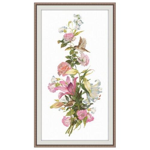 Купить Овен Цветной Вышивка крестом Цветочная композиция Лилии 19 х 44 см (999), Наборы для вышивания