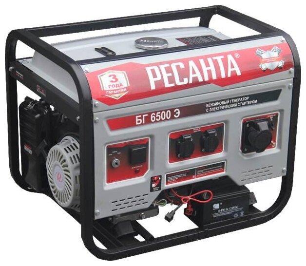 Бензиновый генератор РЕСАНТА БГ 6500 Э (5000 Вт)